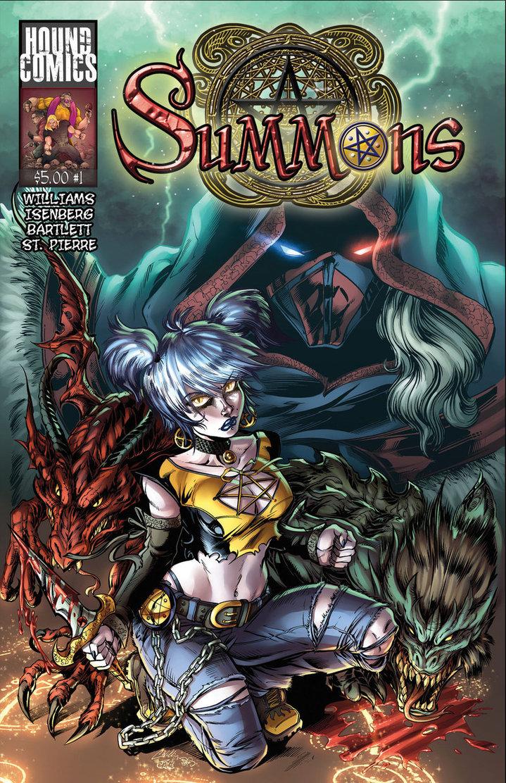 Summons_cover Hound Comics Jake Isenberg Bartlett Williams