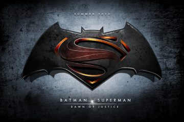 Batman v Superman Dawn of Justice movie poster and logo