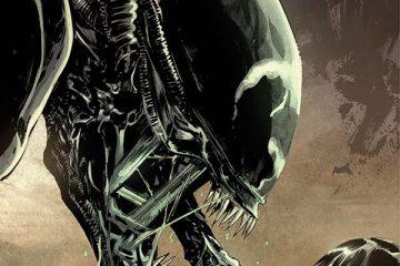 Aliens / Vampirella #2 Cover by Hardman