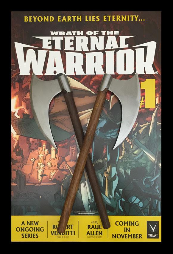 Wrath of the Eternal Warrior Cusotmized Battle Axes
