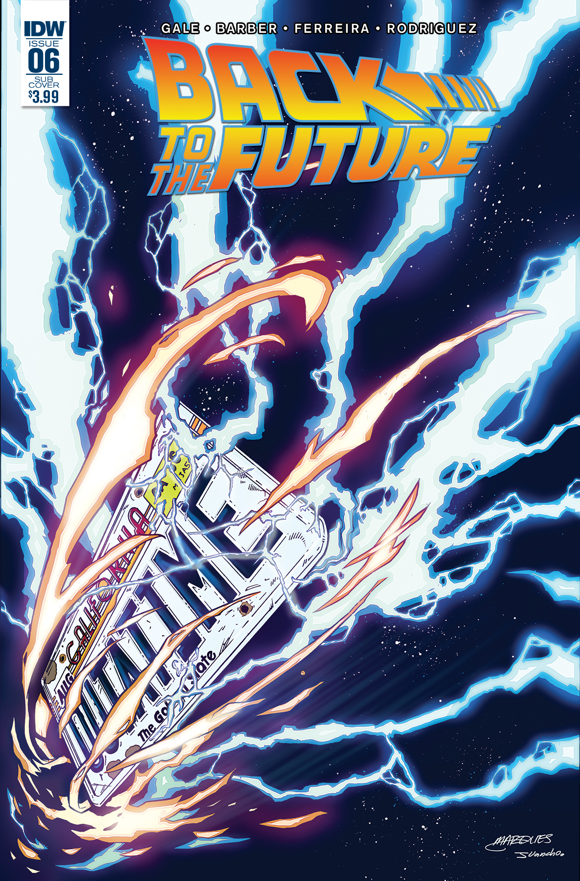 Back to the Future #6 Cover