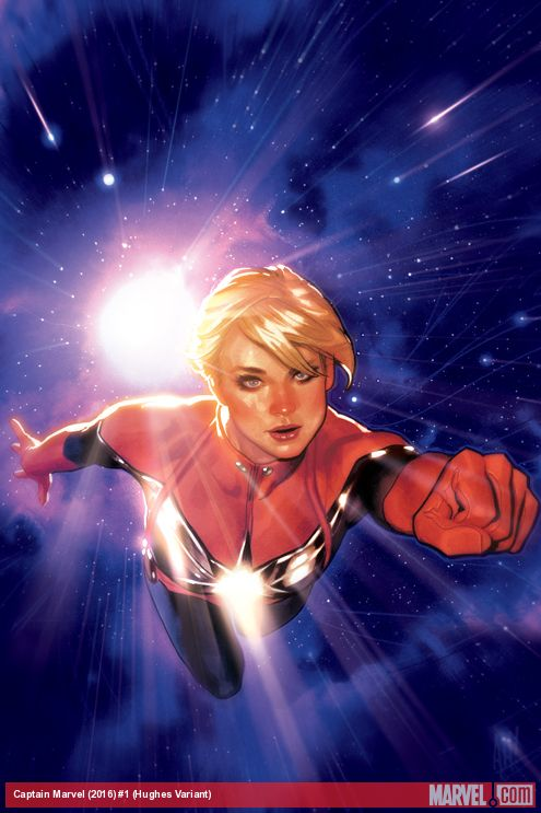 Captain Marvel #1 Variant Cover by Adam Hughes