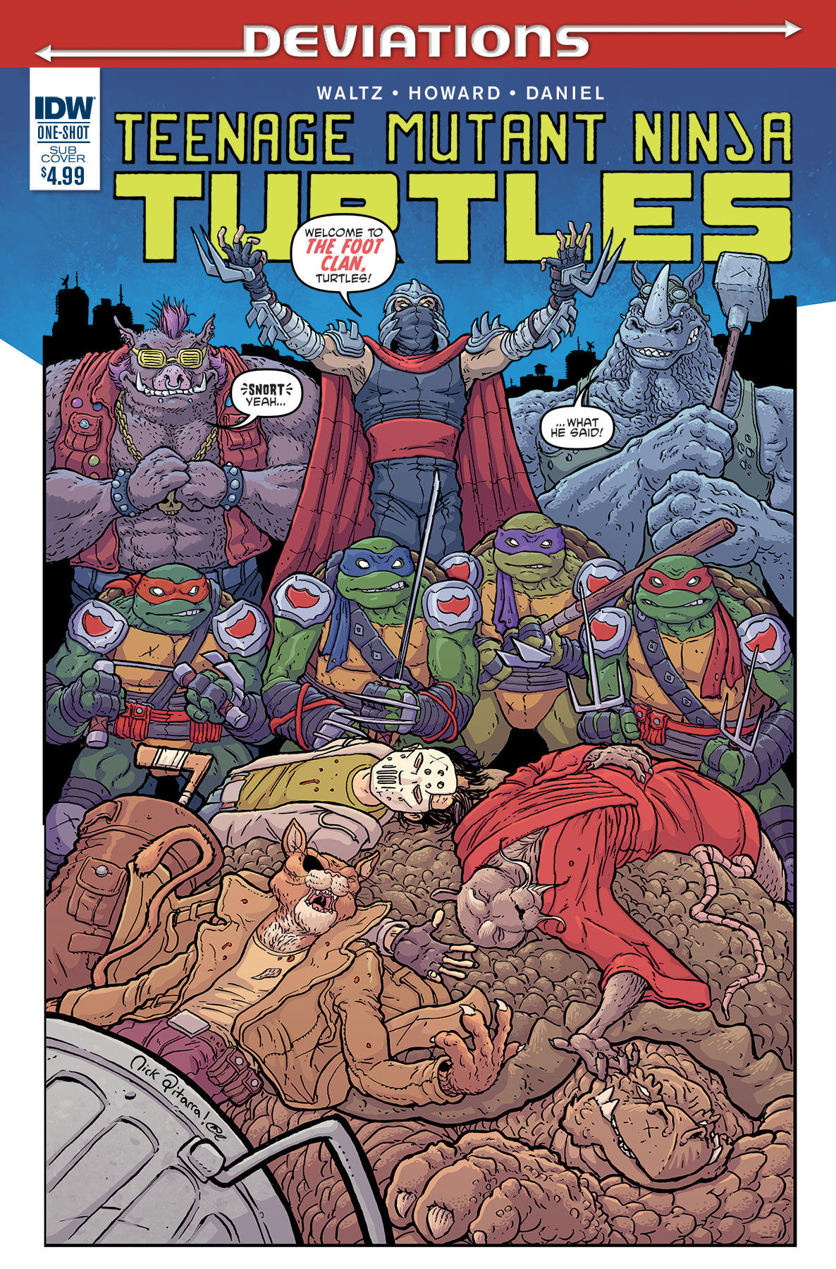 Teenage Mutant Ninja Turtles Deviations Cover