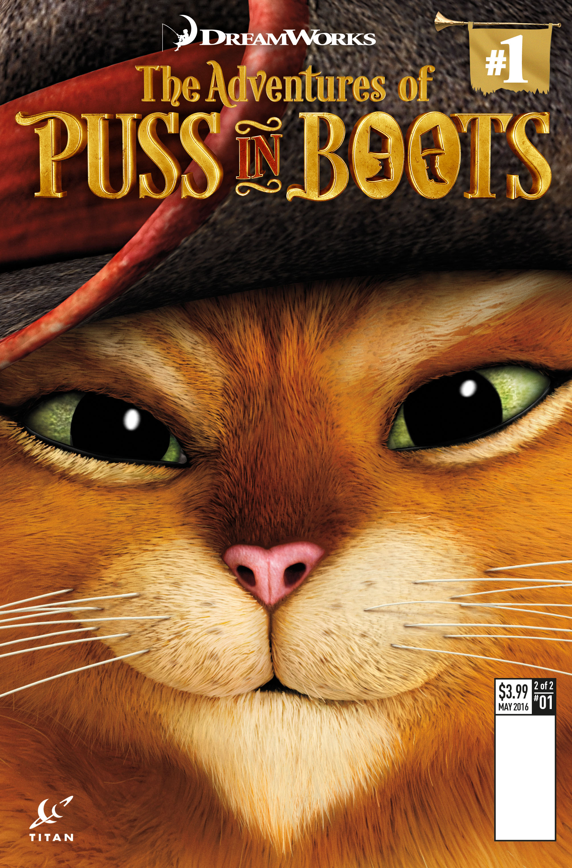 Puss In Boots #1 Film Art Cover