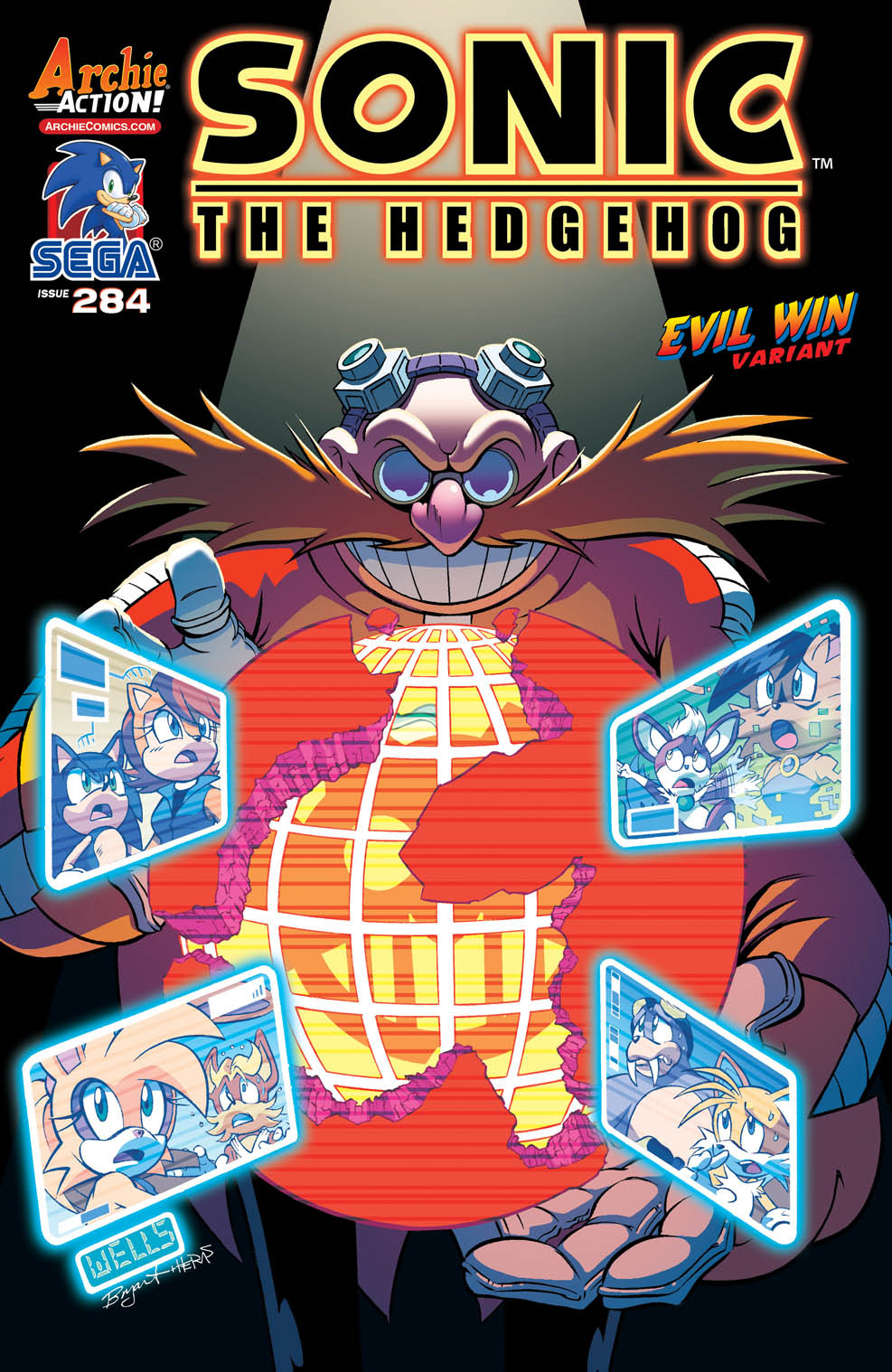 Sonice the Hedgehog #284 Cover