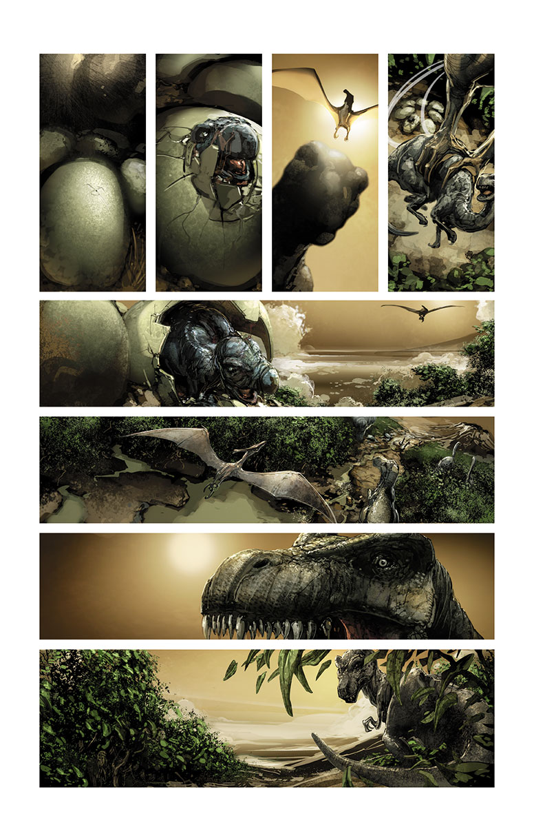 4001 A.D. #1 Preview Page
