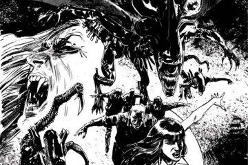 Aliens / Vampirella #6 Cover