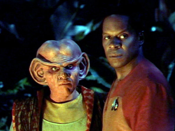 Commander Sisko and Quark