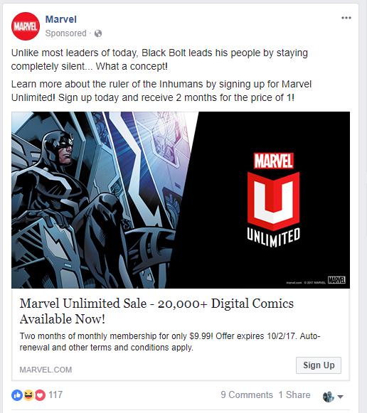 Marvel Ad Blackbolt/Trump