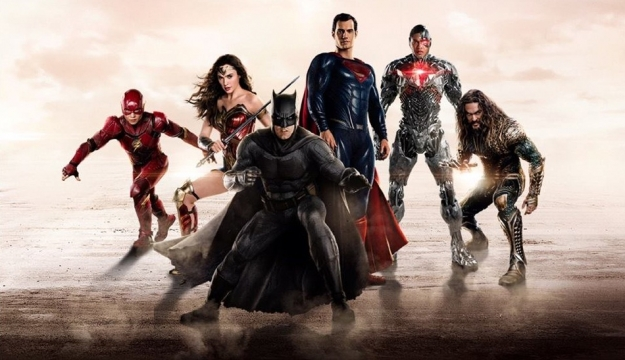 Justice League Banner with Superman