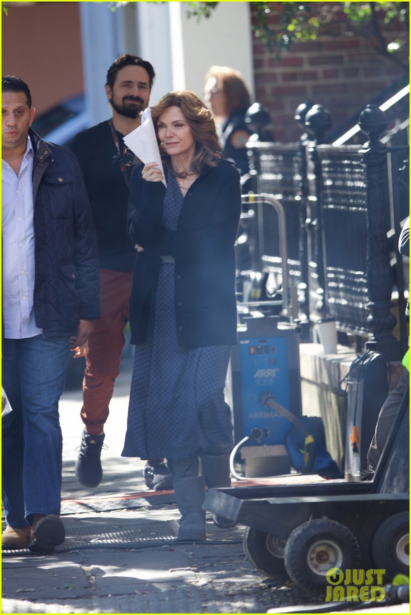 Michelle Pfeiffer on set of Ant man and the wasp