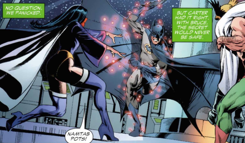 Zatanna vs Batman Identity Crisis