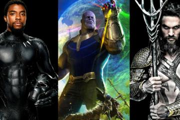 Black Panther, Thanos, and Aquaman