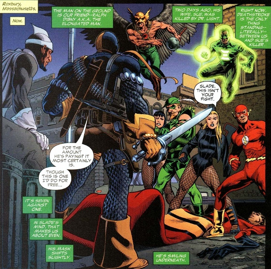 Deathstroke vs Justice League