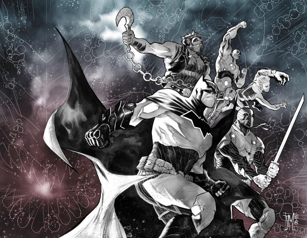 Batman Cover of Justice League: No Justice by Francis Manapul