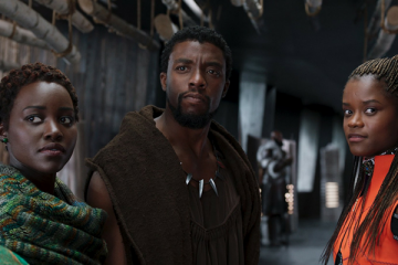 Black Panther, Shuri, and Nakia