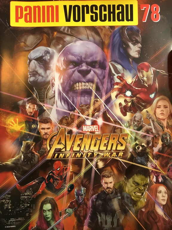 Avengers Infinity War German Magazine
