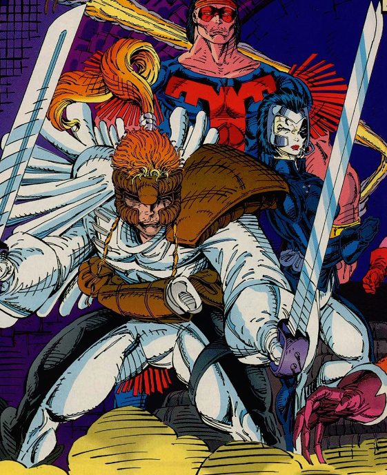 Shatterstar and Domino