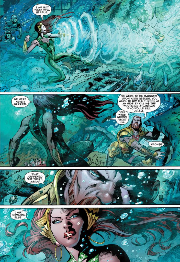 "Nereus and Mera in ""Aquaman"" - Art by Paul Pelletier - DC Comics"