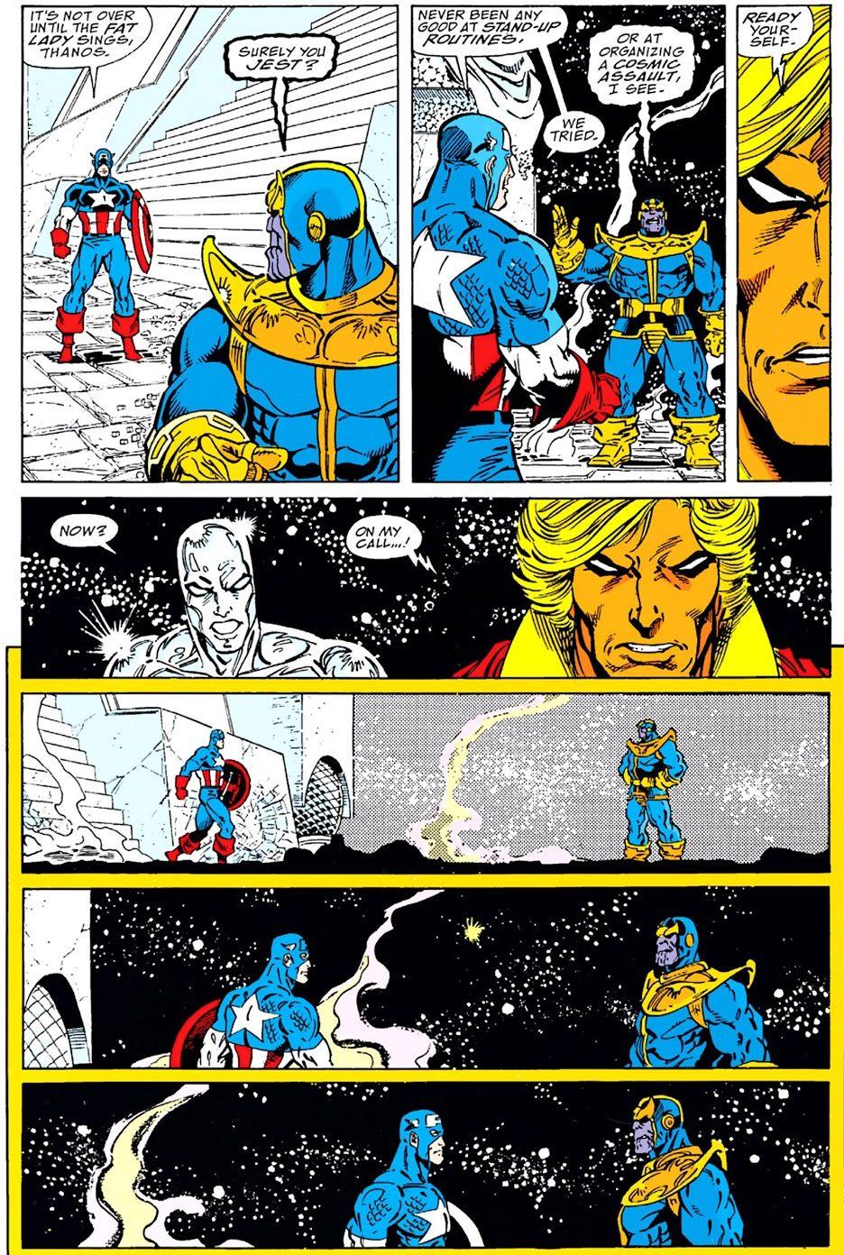 Thanos vs Captain America