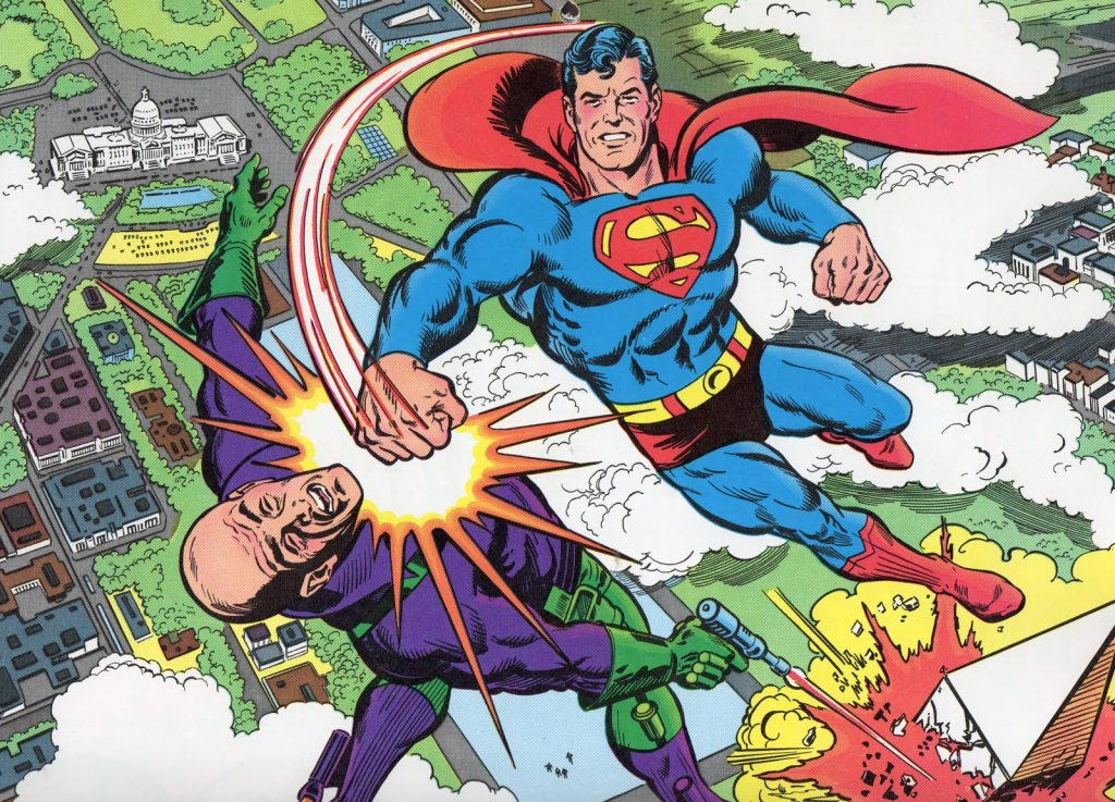 Superman and Lex Luthor - Art by Curt Swan - DC Comics