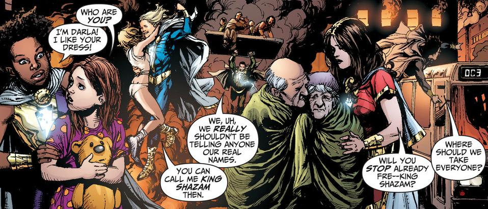 The birth of King Shazam - Art by Gary Frank - DC Comics