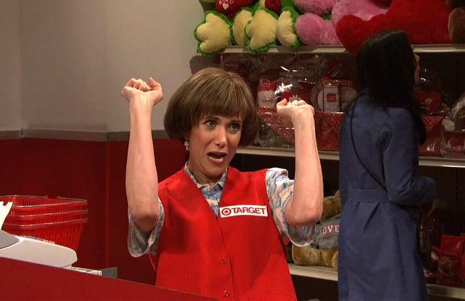 "Kristen Wiig as ""Target Lady"" On Saturday Night Live"