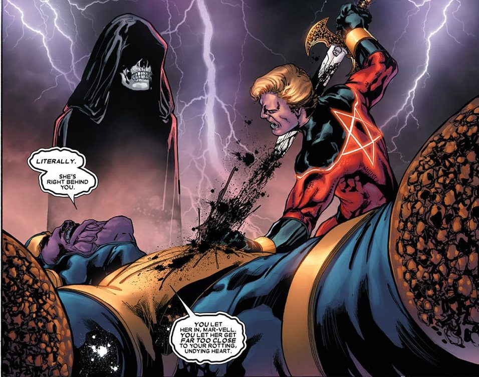 Lord Mar-Vell vs Thanos