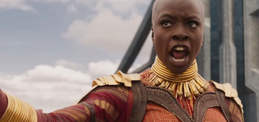 Danai Gurira as Okoye in Black Panther - Marvel Studios and Disney