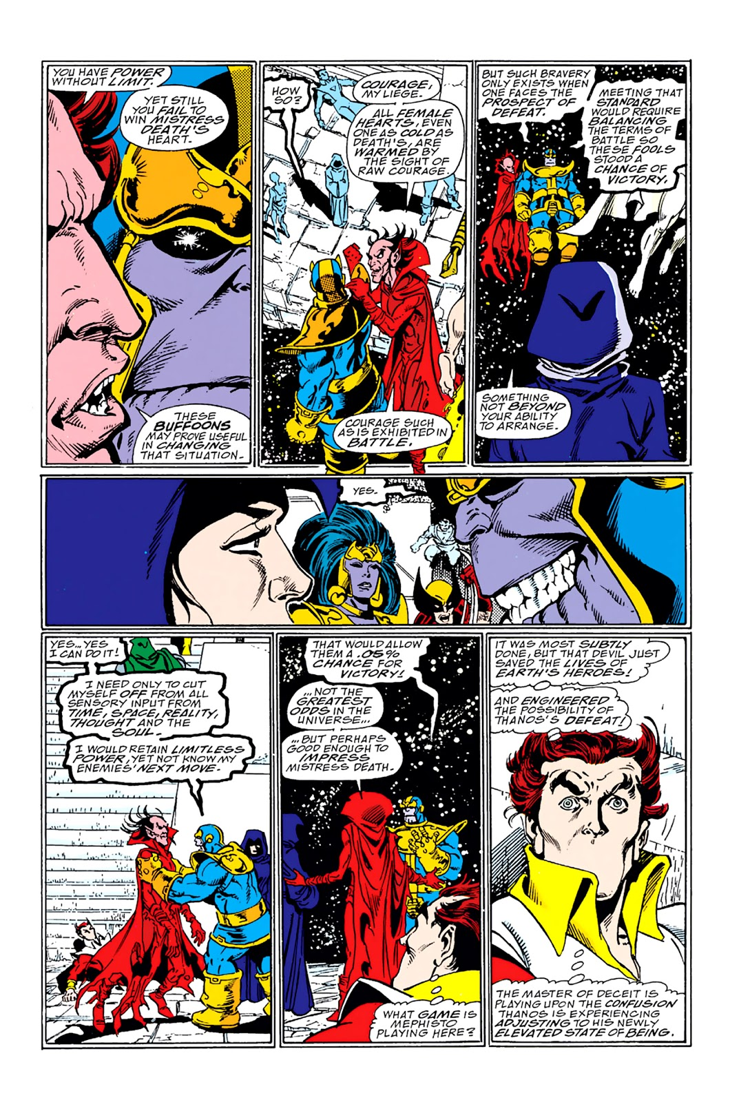 Thanos and Mephisto Infinity Gauntlet