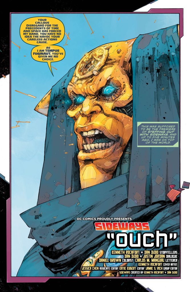 Sideways #2 Preview Page - DC Comics