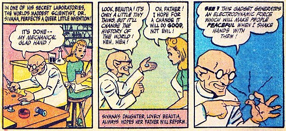 Dr. Sivana and daughter Georgia - Whiz Comics - Fawcett Publications