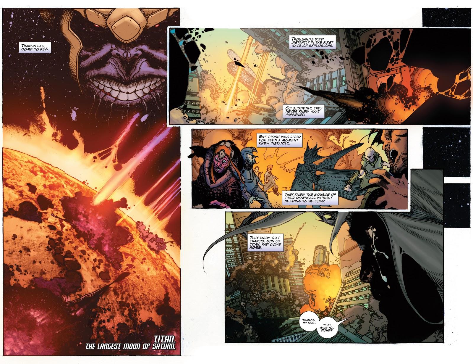 Thanos destroys Titan