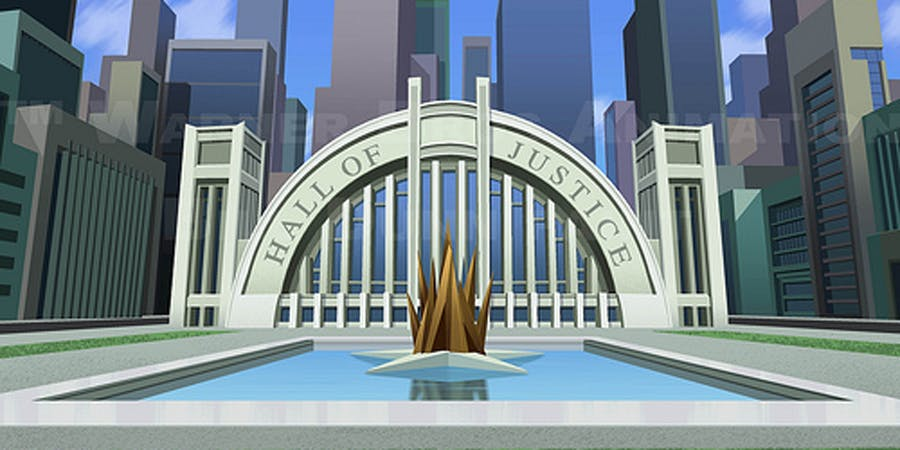 The Hall of Justice - DC Comics