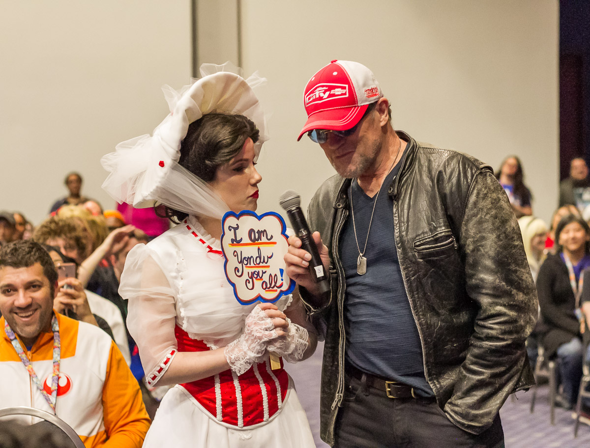 Mary Poppins and Michael Rooker