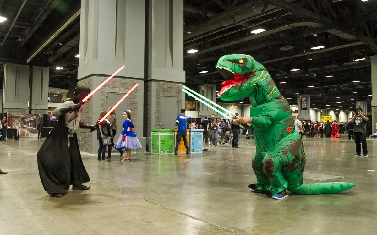 Sith vs T-Rex