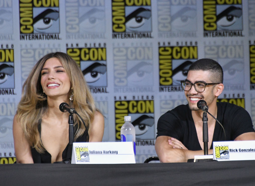 Juliana Harkavy and Rick Gonzalez