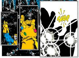 """The Snap in """"The Infinity Gauntlet"""" - Marvel Comics"""