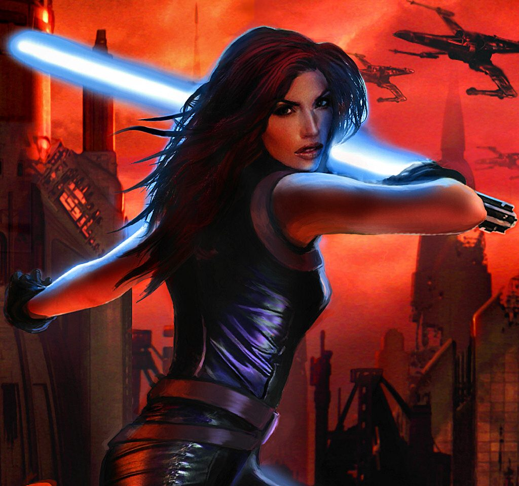 "Mara Jade Skywalker in ""Star Wars: Legacy of the Force - Sacrifice"" - Lucasfilm"