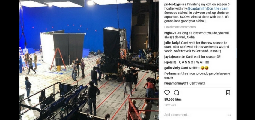 "Jason Momoa Behind the Scenes look at ""Aquaman"" - Instagram"