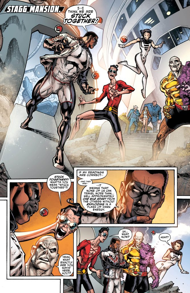 The Terrifics Preview Page #1 - Art by Joe Bennett - DC Comics