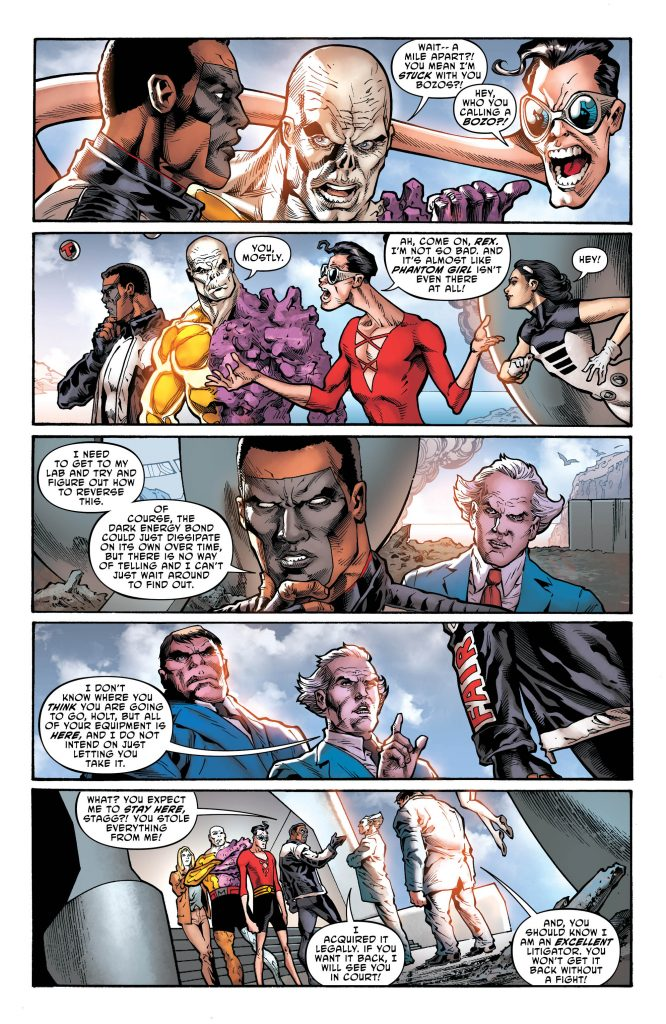 The Terrifics Preview Page - Art by Joe Bennett - DC Comics