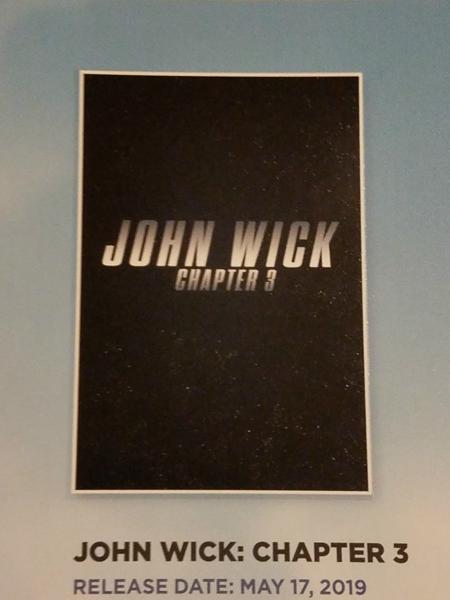 John Wick: Chapter 3 Promo Poster
