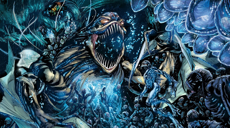"The Trench in ""Aquaman"" - Art by Ivan Reis - DC Comics"