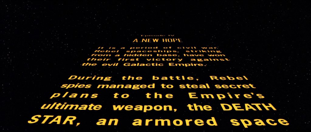Star Wars: A New Hope - Opening Text Crawl - Lucasfilm