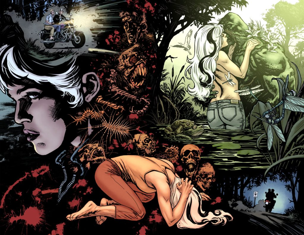 "Abby Arcane and Alec Holland in ""Swamp Thing"" - Art by Yanick Paquette - DC Comics"