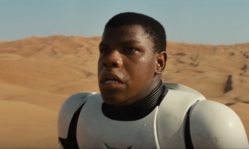 "John Boyega as Finn in ""Star Wars: The Force Awakens"" - dir. J.J. Abrams - Lucasfilm"