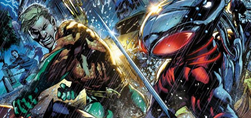 Aquaman and Black Manta - Art by Ivan Reis - DC Comics