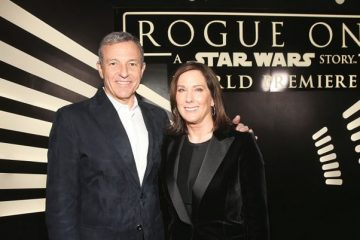Kathleen Kennedy and Bob Iger