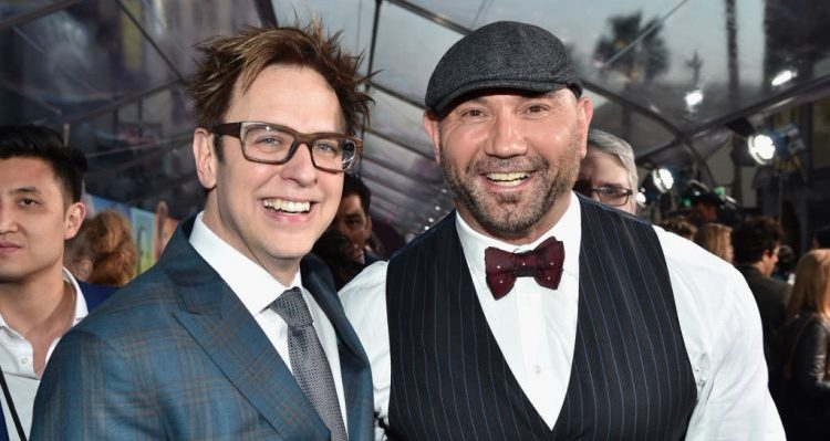 James Gunn and Dave Bautista